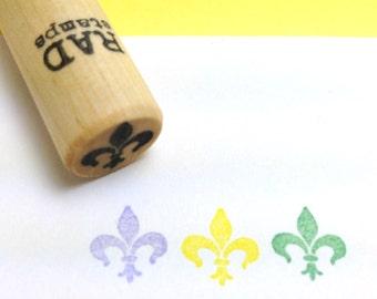 Fleur de Lis Rubber Stamp Mardi Gras