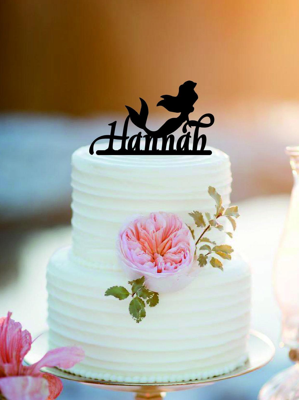 Mermaid with name Birthday Cake Topper /Bithday Cake Topper
