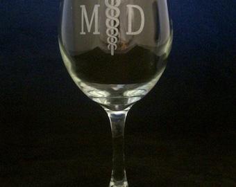 Doctor Retirement Goodbye Tension Hello Pension wine glass md retirement, MD gift, Doctor retirement gift, MD retirement party gift