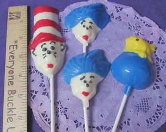 Seuss Cat in the hat assorted chocolates lollipops 12