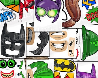 Batman Lego Movie inspired Photo Props Instant download