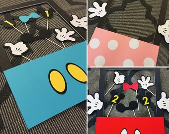 Mickey Mouse / Minnie Mouse Birthday Party Photo Booth and Props