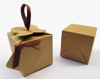 Small Kraft Box, Gift Box, Wedding Favor Box Set of 20