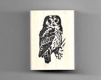 Pueo (Hawaiian Owl) rubber stamp