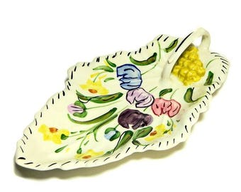 Blue Ridge Southern Potteries Easter Parade Celery Relish Tray with Handle