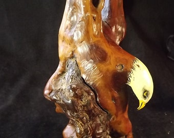 Hand Carved Wood Eagle from Manzanita Tree Root