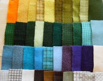 Teinte de vente à la main en laine feutrée des chutes lot numéro 1414 quilting Acres Rug Hooking Applique laine sou tapis en laine