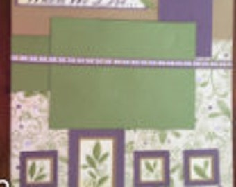 Scrapbook page - 12 x 12 Premade Scrapbook Pages