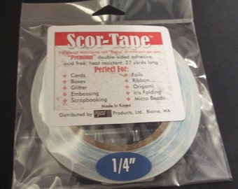 Scor-Tape - Premium Double Sided Adhesive 1/4""