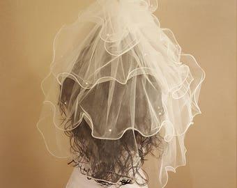 Princess Flyaway 5 Tier Wedding Veil with Tiara