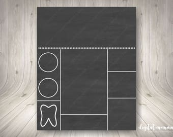 Printable Chalkboard Birthday Template, Personal & Commercial Use, 8x10, 16x20