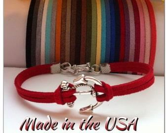 Anchor Bracelet for woman,  Charm Bracelet, Friendship Bracelet, Valentine's Day bracelet for her, Valentine's Day gift for woman.