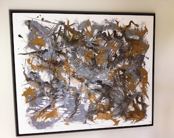 Custom art created for a large art wall in a home in Park City UT