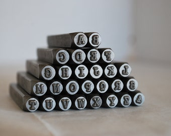 3 mm-Uppercase Typewriter  Font Alphabet Letter Stamp Set-Metal Stamps -Jewelry Stamping Supplies