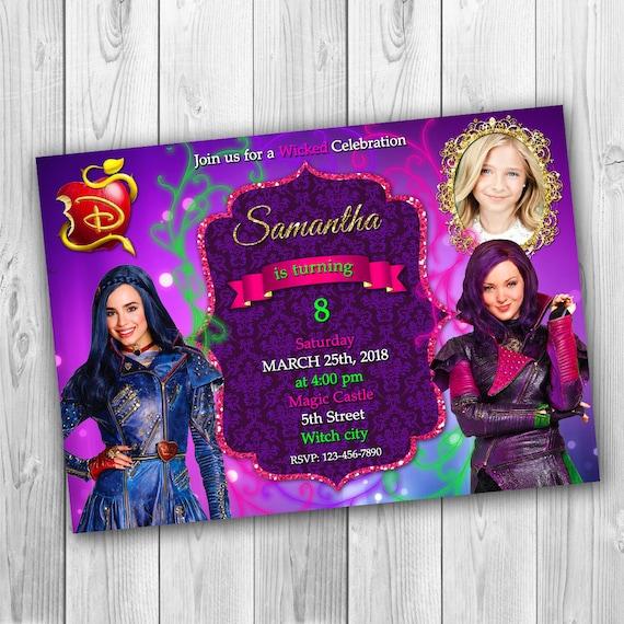 Disney Descendants Birthday Party Invite