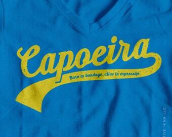 Capoeira Forever // Capoeiar T-shirt // Capo // Detroit // Made In Detroit //  Teal Capoeira