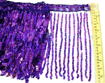 2 yards of Holographic Sequin Fringe only 9.99