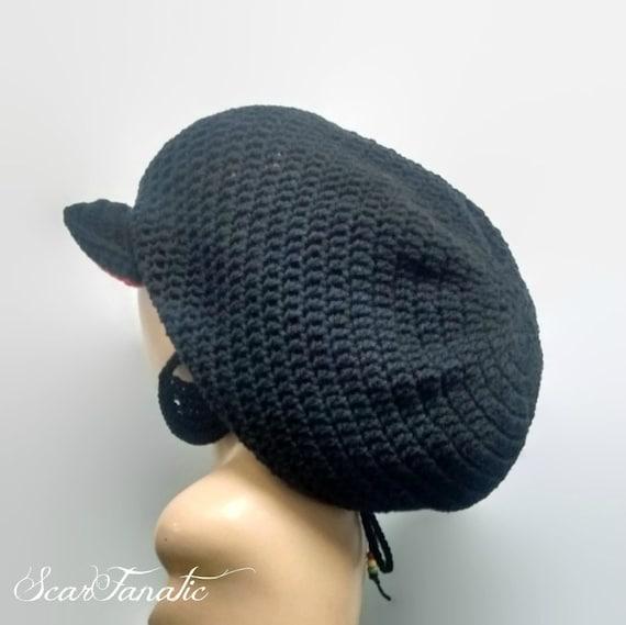 Instant Download Easy Crochet Mega Tam Dreadlock Hat Pattern With