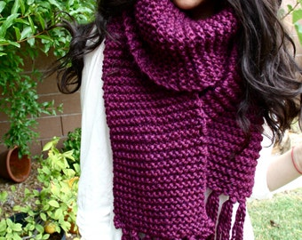 VELVET* // Oversize Chunky Scarf // Huge Knit Scarf // Extra Wide // Extra Long // Hand Knit