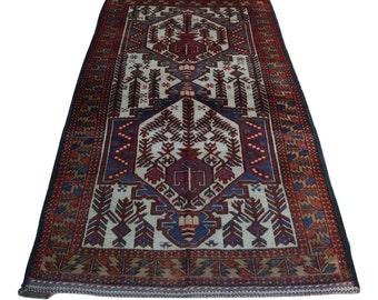 Stunning Afghan vintage nomadic rug / hand knotted rug 100% wool