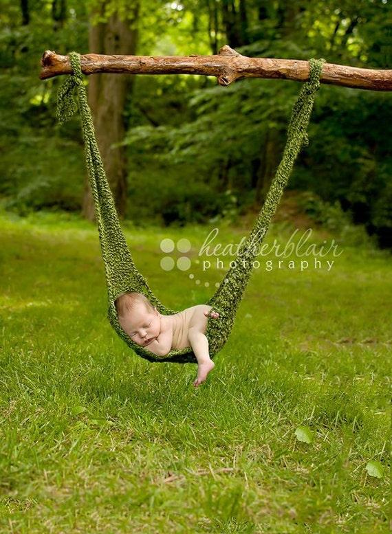 like this item  newborn hammock photo prop crochet hammock hanging photo  rh   etsy