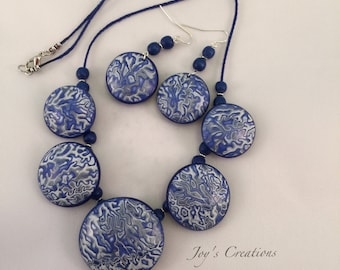 Hollow Bead and Earring Set