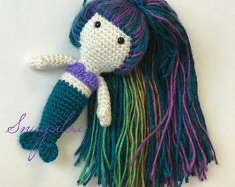 Crochet Pattern - Sierra the Mermaid - Amigurumi Mermaid - PDF instant download