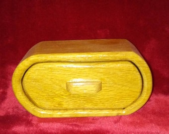 Single Drawer Oak Bandsaw Jewelry Box