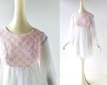 60s Babydoll Dress | Sweet Nothings | 1960s Dress | XS