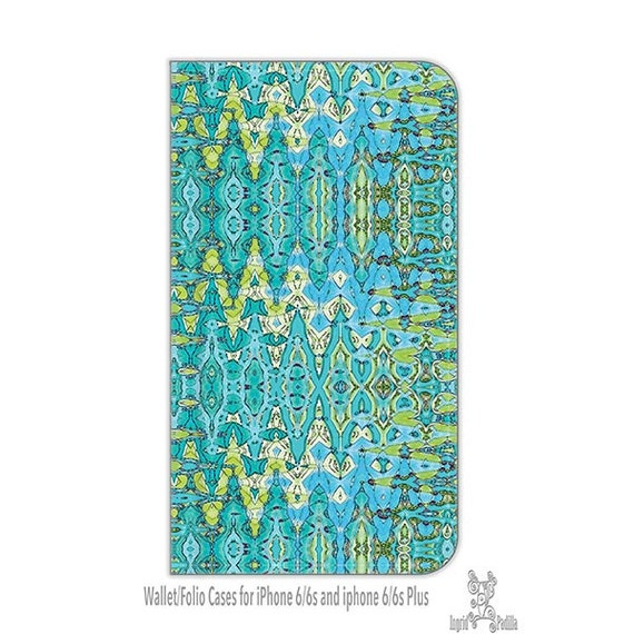 Turquoise, Boho, iPhone 6s plus wallet case, cell phone wallet case, wallet case, s6 wallet case, Folio wallet cases, S8 wallet case