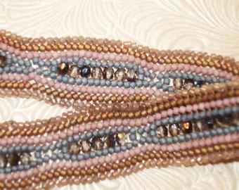 Pebbles in the Stream Beadwoven Bracelet