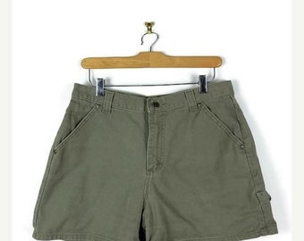 ON SALE Vintage Light sage Green Cotton Shorts from 90's/W30