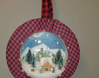 Snow globe wreath