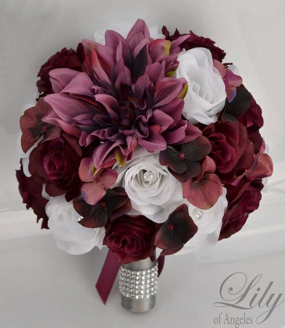 Wedding Bouquet Silk Flowers Bridal Bouquets Wedding