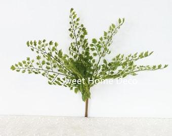 JennysFlowerShop 11'' UV Protected Maidenhair Fern Artificial Bush Indoor/Outdoor Greenery (7 Stems)