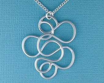 All Meshed Up Sterling Silver Pendant