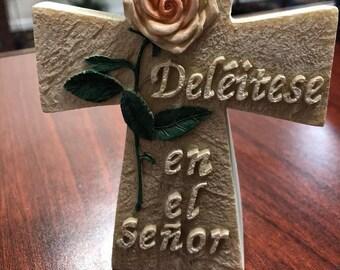 Deléitese en el Señor - Placa Cristiano Christian plaque in Spanish