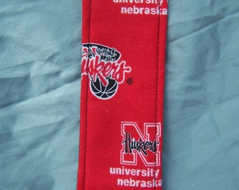 Nebraska Huskers Fabric Bookmark