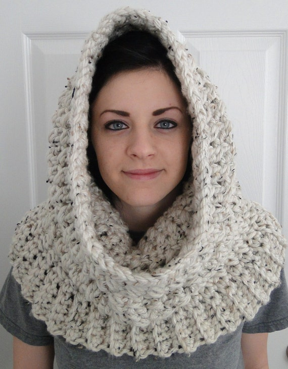 Pdf Pattern Only Hooded Neck Warmer Cowl Scarf For Women Winters