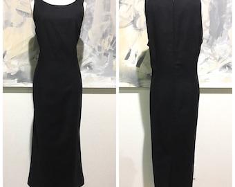 NEW Vintage Brooks Brothers 100% Wool Black Jumper Dress Plus Sz 14 Flaws