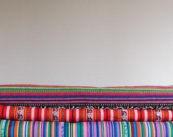 YARD SALE Ethnic Woven Cotton Fabric / Bohemian cloth / Mexican weave / Jacquard woven fabric / Tribal geometric fabric 50111