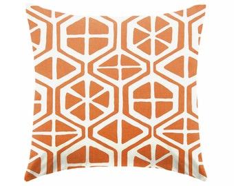 Burnt orange pillow cover,  coastal pillow cover, nautical pillow, ocean beach , euro sham