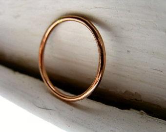 14k Rose gold fill stack ring