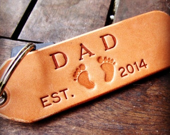 leather key fob, key chain, key fob of key fobs, personalized key fob, hand made for mom or dad