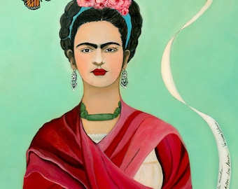 "Frida Kahlo and the Butterfly 12"" x 16"""