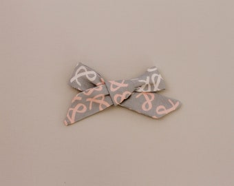 Ampersand Bow Headband or Hair Clip