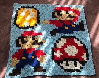 Crochet Graphgan blanket - Mario theme
