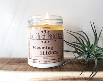 Blooming Lilacs: Lilac. Gifts for mom, Lilac Candles, Floral Candles, Soy Candles, Flower candles, Vegan Candles, Spring Candles, Summer