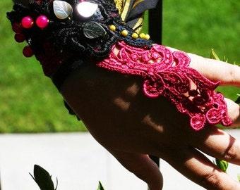 SALE Malavika /// slave cuff by Jhumki Couture - designs by raindrops