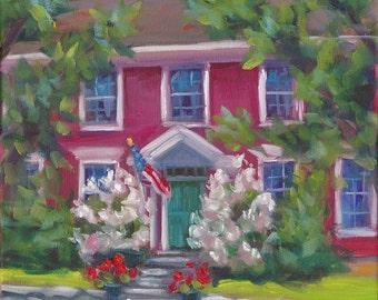 Fragrant Welcome, oil painting, flower art, country art, original art